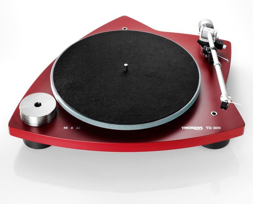 Thorens TD 309 platenspeler rood