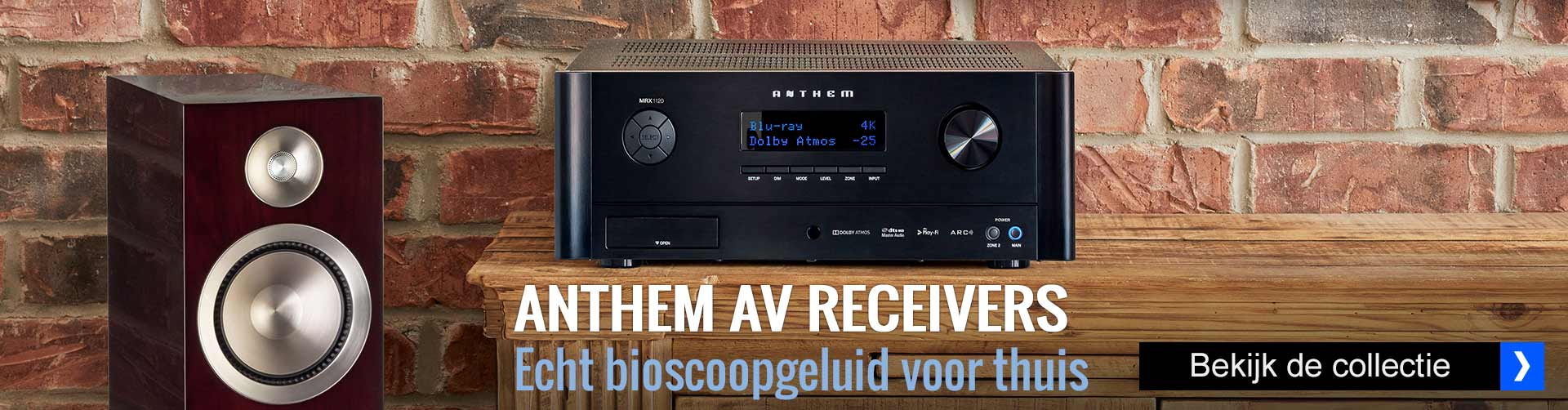 Anthem AV receivers bij HOBO hifi